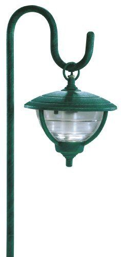 Manor House Lv11010gn Cast Aluminum Low Voltage Seeded Gl Light On Shepherd S Hook With 10 Watt