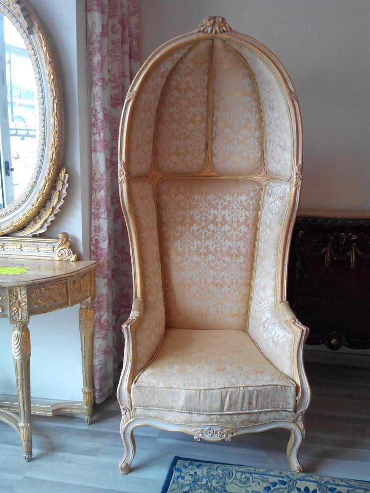 Fauteuil Carrosse Style Louis Xv Fauteuil Mobilier De Salon Meuble Occasion