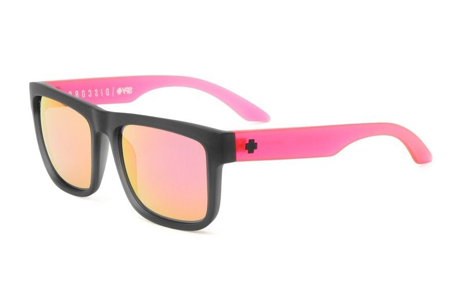 Spy - Discord Ag Cosmic Sunrise Sunglasses, Grey W/ Pink Spectra Lenses