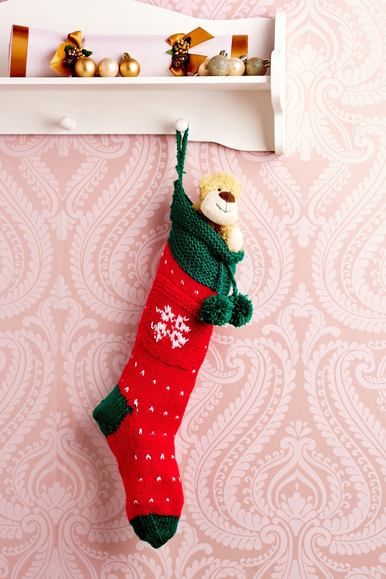 Easy Christmas Stocking - Free Knitting Patterns - Charts ...