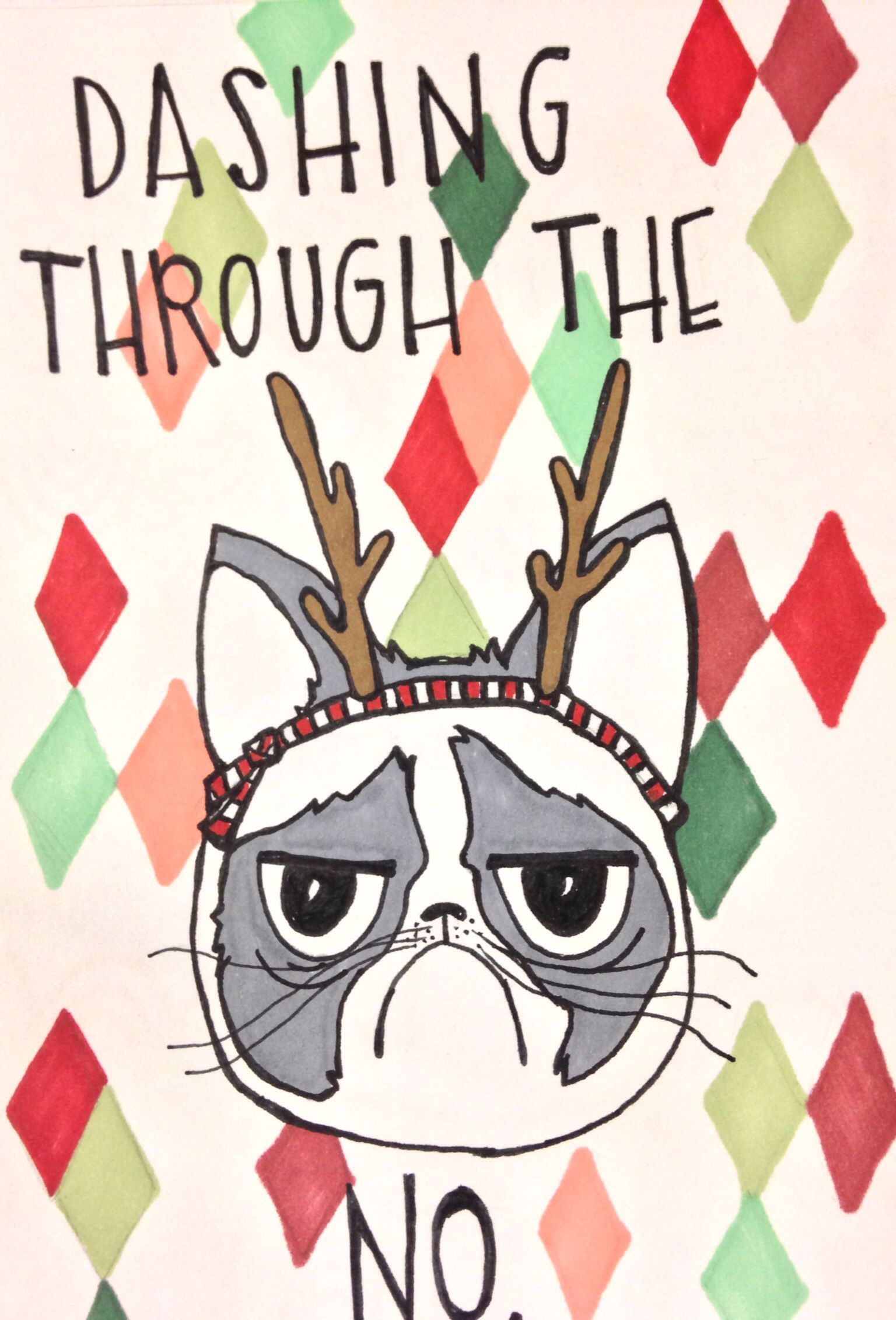 etsy.com/shop/rejoiceify Grumpy Cat Christmas cards! | Christmas ...