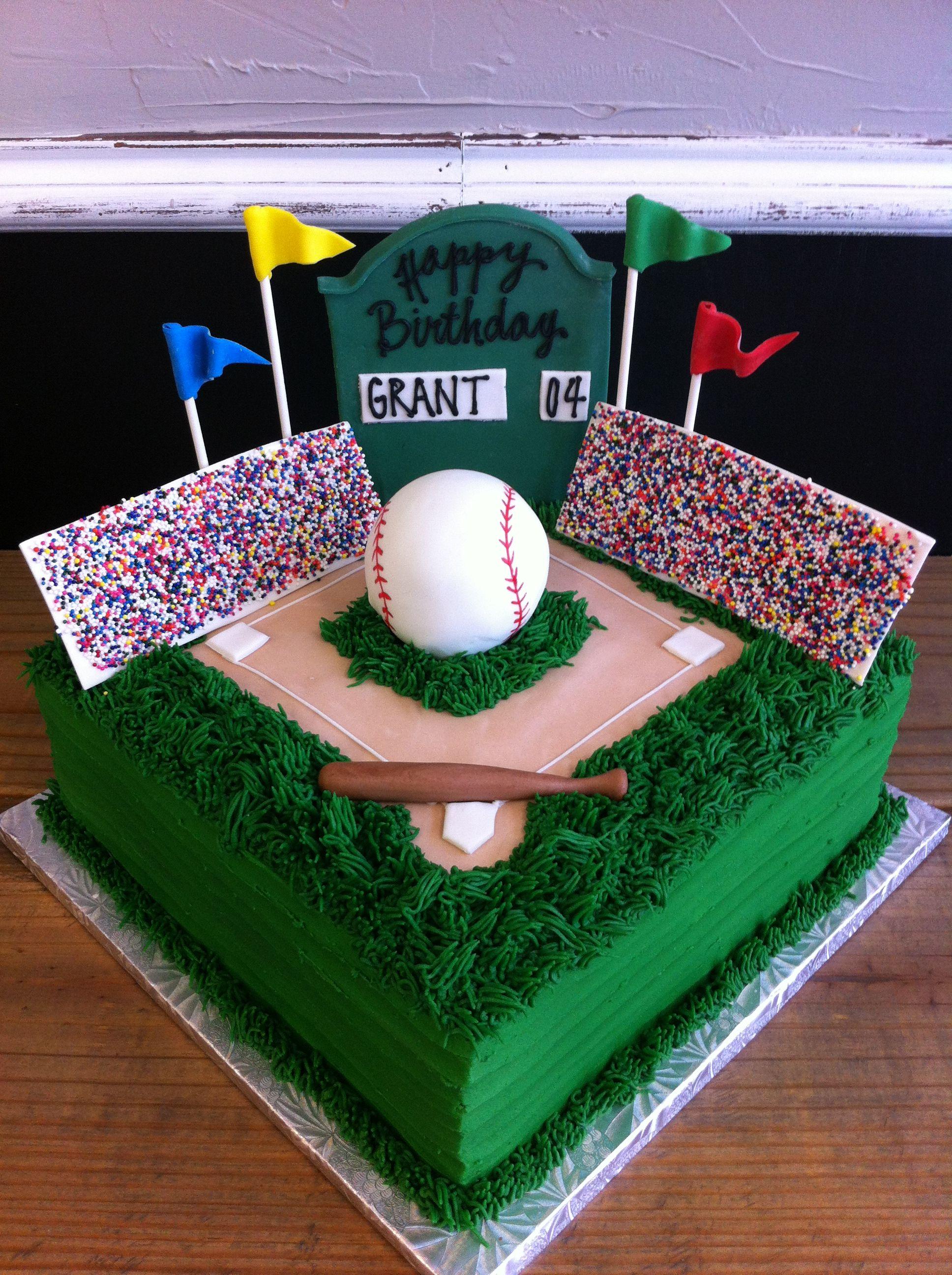 Baseball fan birthday cake Owen 6th Birthday Pinterest Birthdays