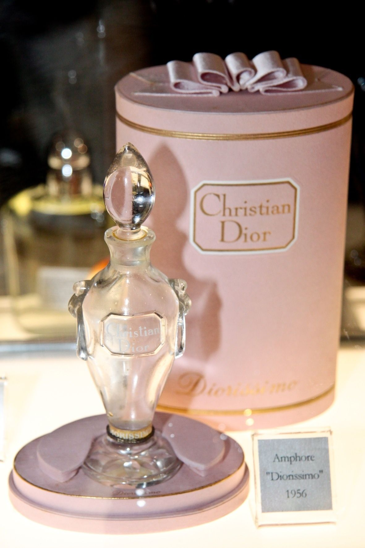b004cdb0850 Christian Dior ❤❦♪♫ ROUND TALL HAT BOX LIKE CANISTER DIY STYLE HIGH END  INSIGNIA S.