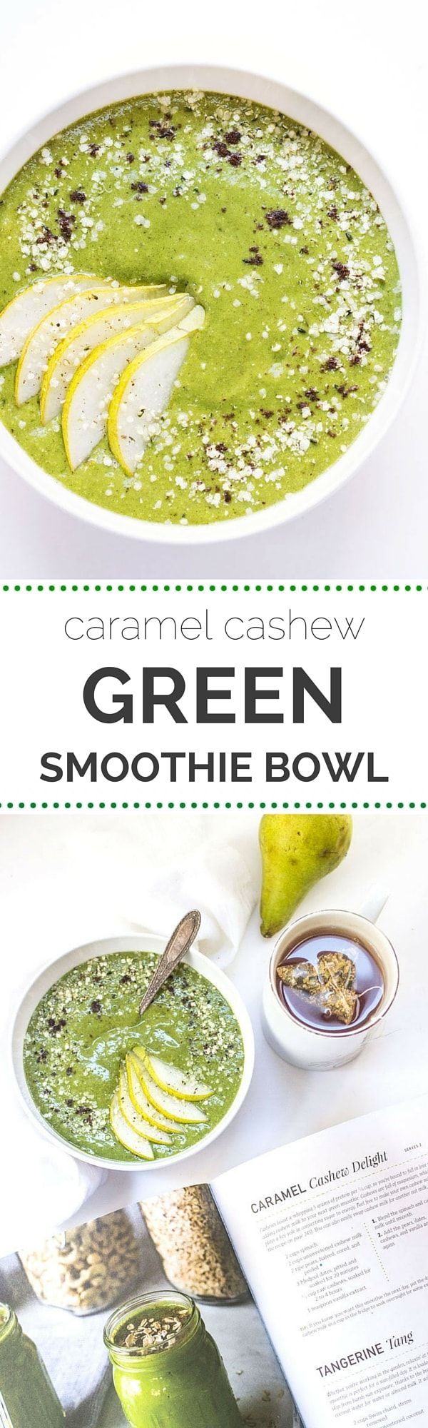 I wish my breakfast always tasted like ice cream! This Caramel Cashew Green Smoothie Bowl was probably the most delicious healthy breakfast I have ever eaten!