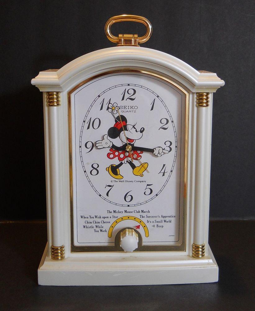 Vintage Seiko Minnie Mouse Alarm Clock - Quartz - Plays 6 melodies #disneyland #disney #collectible