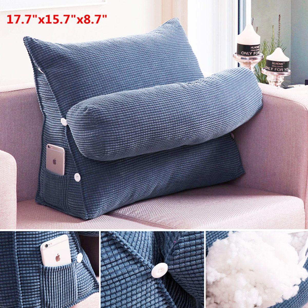 Adjustable Back Wedge Micro Plush Bedrest Cushion Pillow