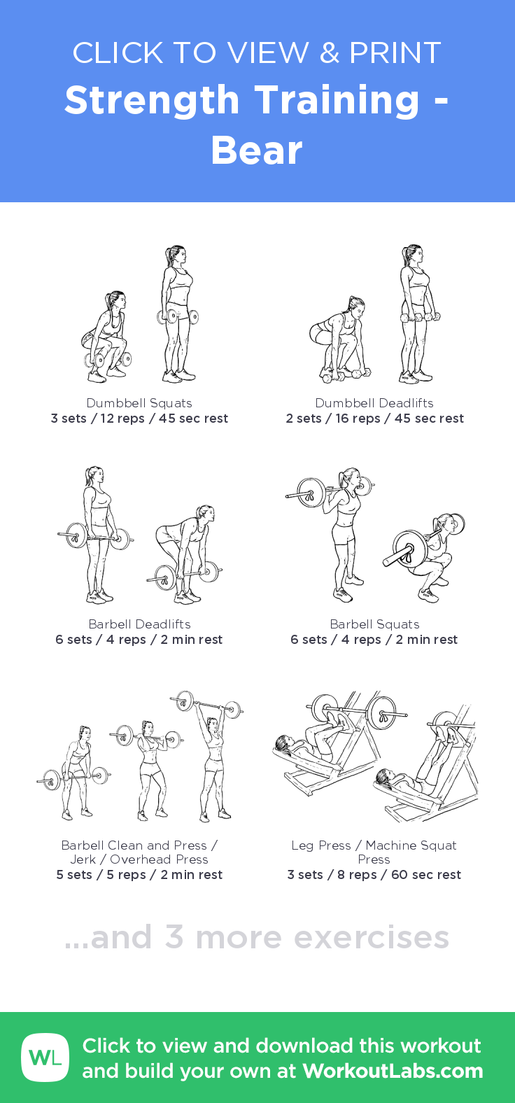 Strength Training Bear click to view and print this