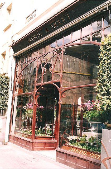 1899 Art Nouveau storefront - La Maison A. Niguet, by Paul Hankar. 13 rue Royale, Bruxelles, Belgium.