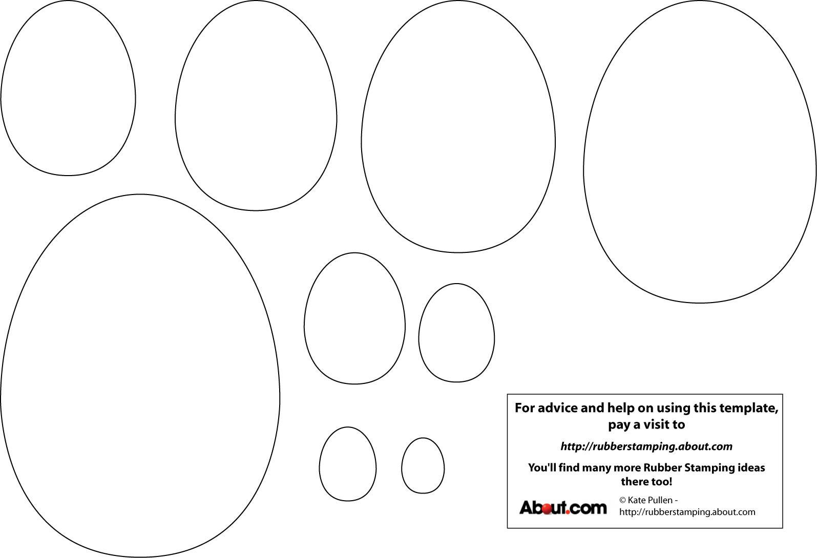 photo regarding Egg Template Printable named Easter Egg Template Printable Preschool-Easter (March or