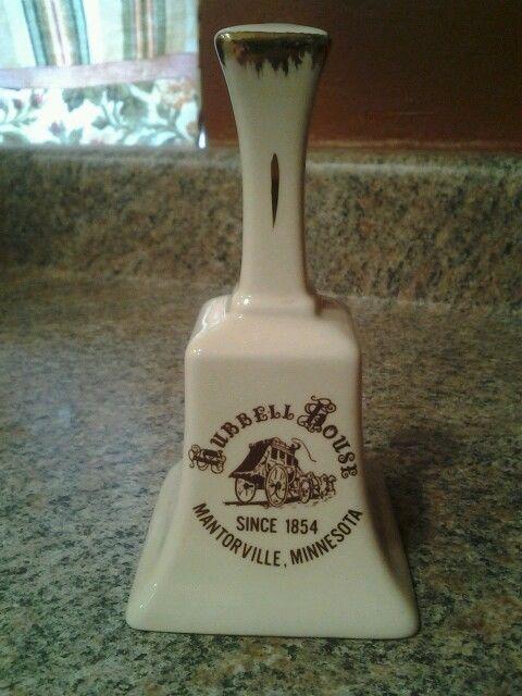 Historic Hubbell House Mantorville Minnesota Vintage Souvenir Porcelain Bell