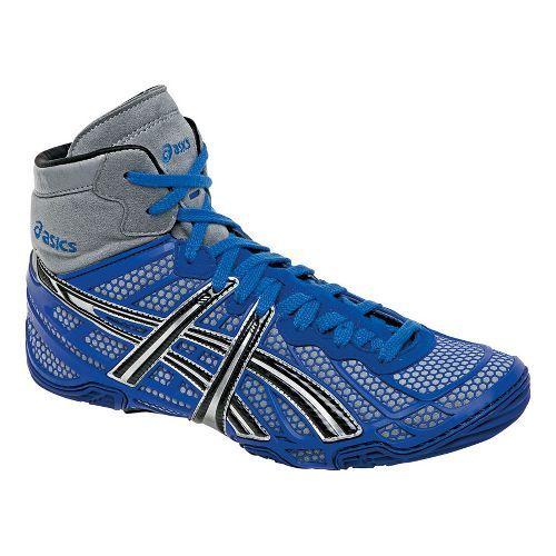 Men's ASICS Dan Gable Ultimate 2 Wrestling Shoe - Blue/Black 9.5 $134.99