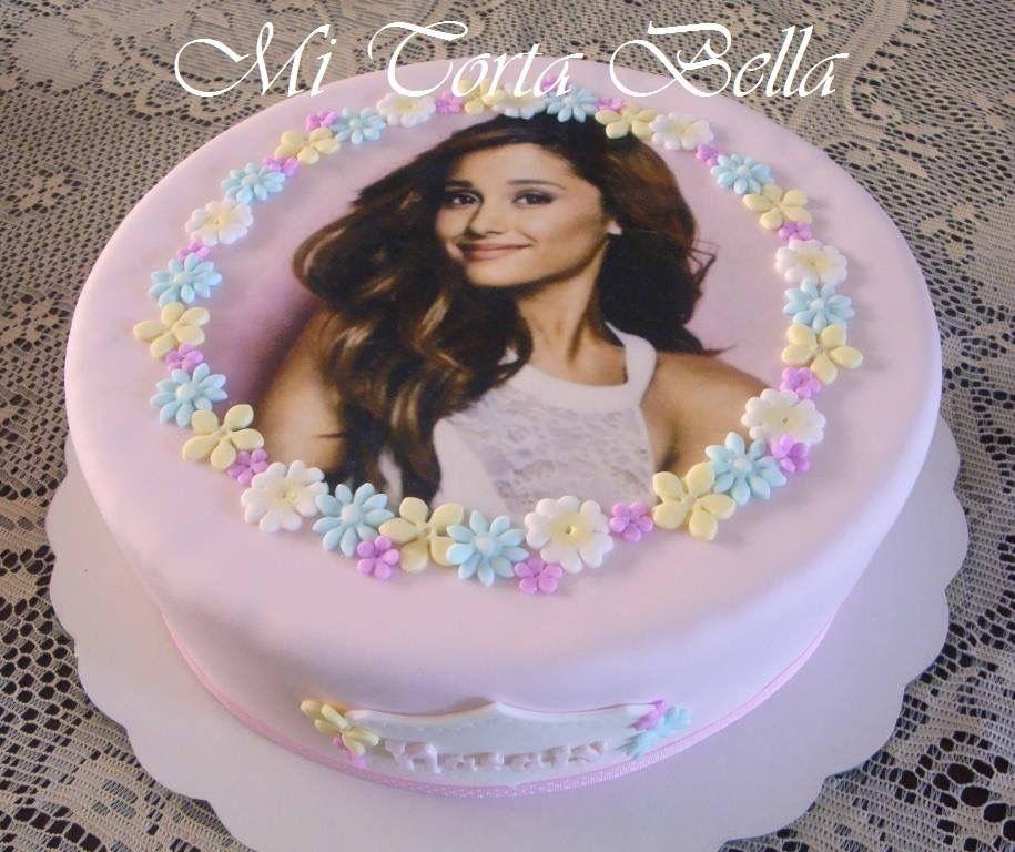 Torta De Cumpleaños 28cm Con Papel De Arroz Y Masa Elástica Desserts Cake Birthday Cake