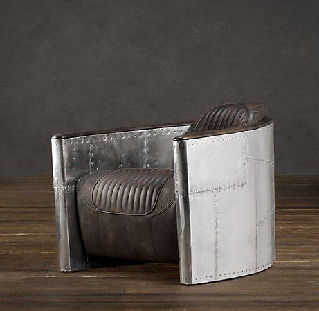 Astonishing Aviator Leather Chair Restoration Hardware Leather Swivel Short Links Chair Design For Home Short Linksinfo