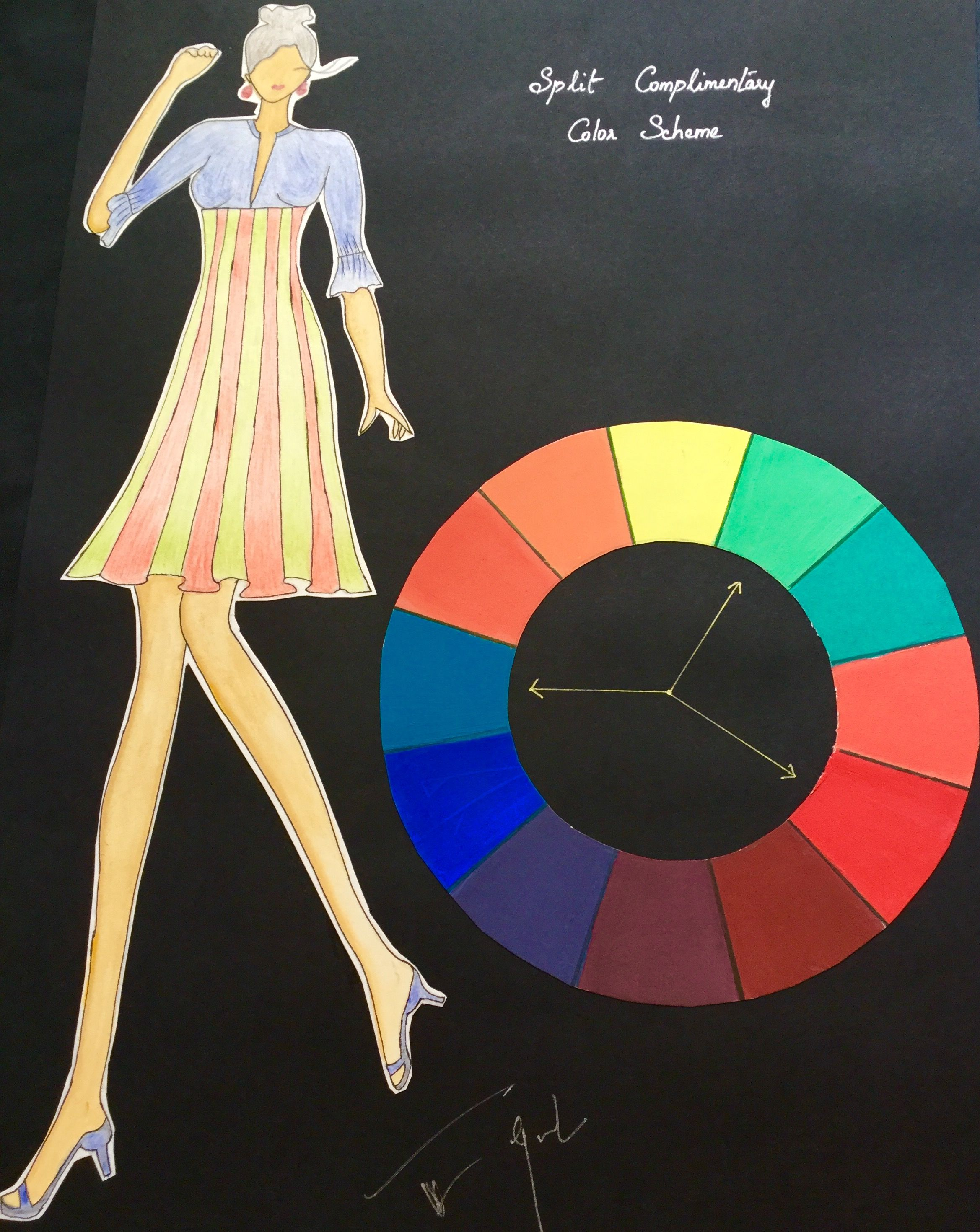 Achromatic & Monochromatic Colour Scheme - Fashion Illustrations - Pinterest