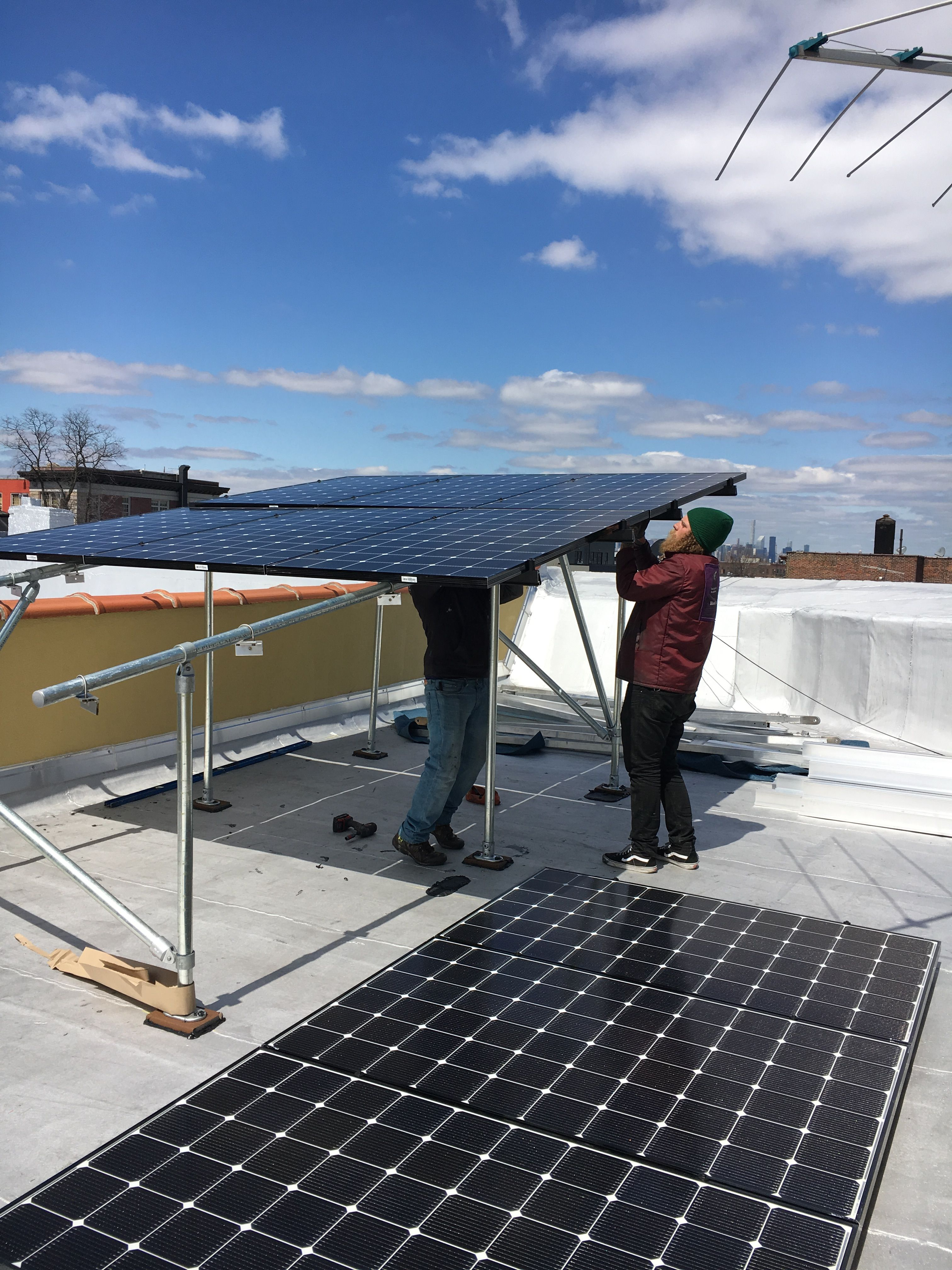 Canopy Construction Solar System Design Residential Solar Brooklyn