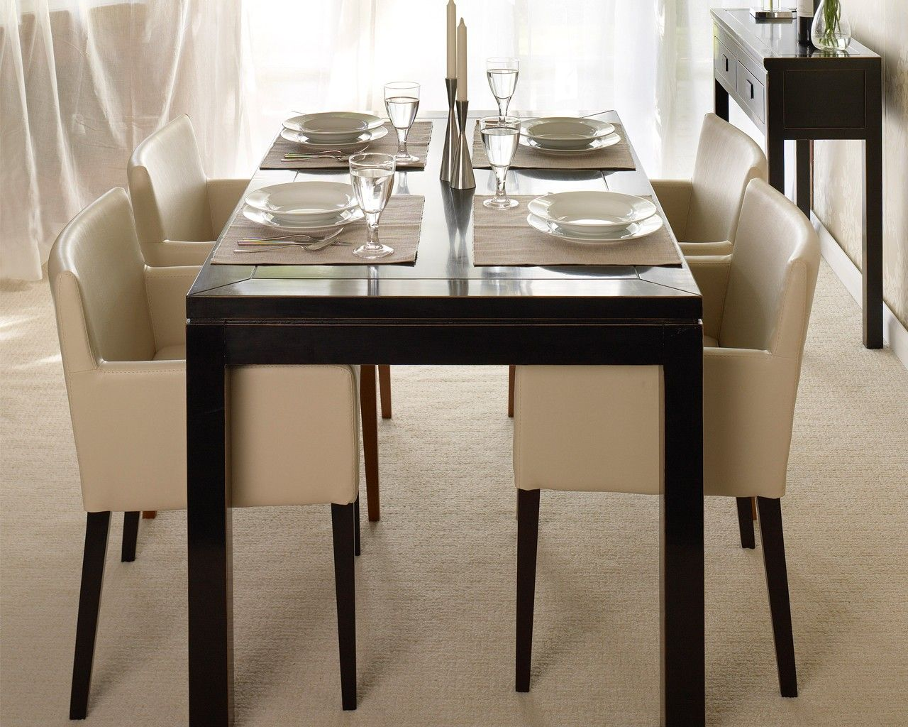 Chairs Black Dining Table Set Low Back Dining Chairs Dining