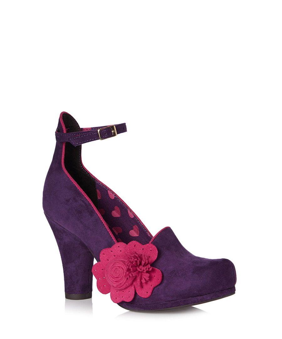 Ruby Shoo Diaz Purple Pink Flower Heels Designer Footwear Sale