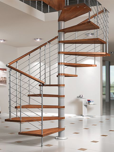 Escalera de caracol modelo SILVER de Maydisa Stairs pins by JosSs