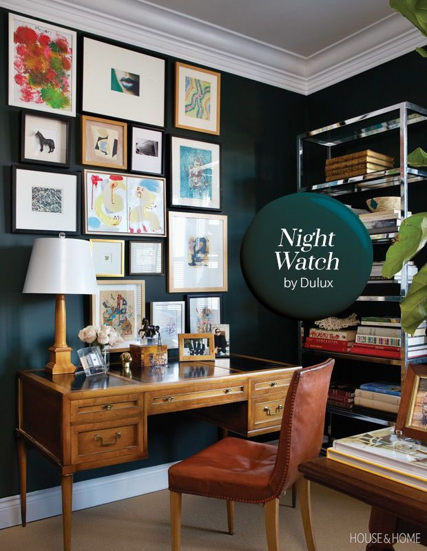 Get inspired with house home 39 s 2019 paint trends in 2019 - Night watch paint color ...