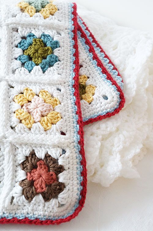 Granny square baby blanket crochet pattern by Little Doolally ...