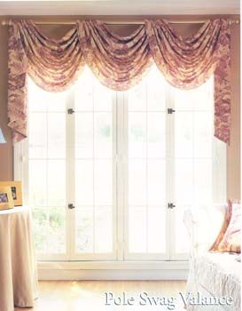 How To Hang Curtains With A Valance Scarf Curtains Hanging