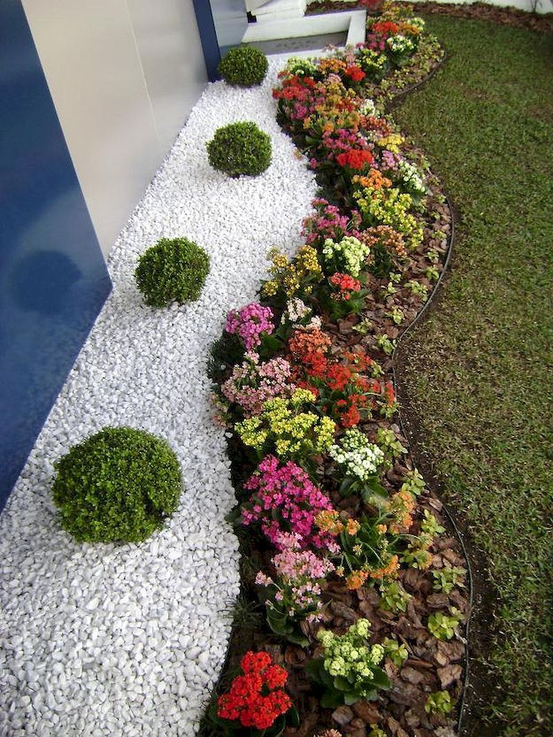 Nice 50 Simple And Beautiful Front Yard Landscaping Budget Friendly Ideas H Small Front Yard Landscaping Rock Garden Landscaping Front Yard Landscaping Design