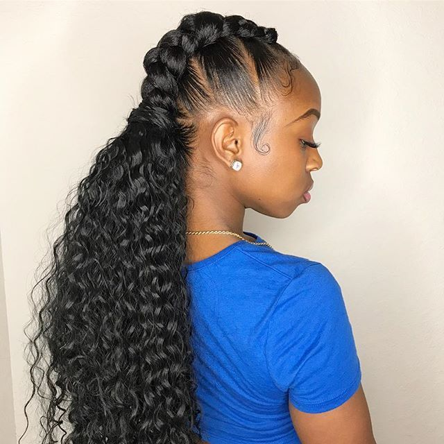 Braided Pigtails w. Extensions @tanisha.styles #TaperUp . . . . . . . Download the #Taper app t ...