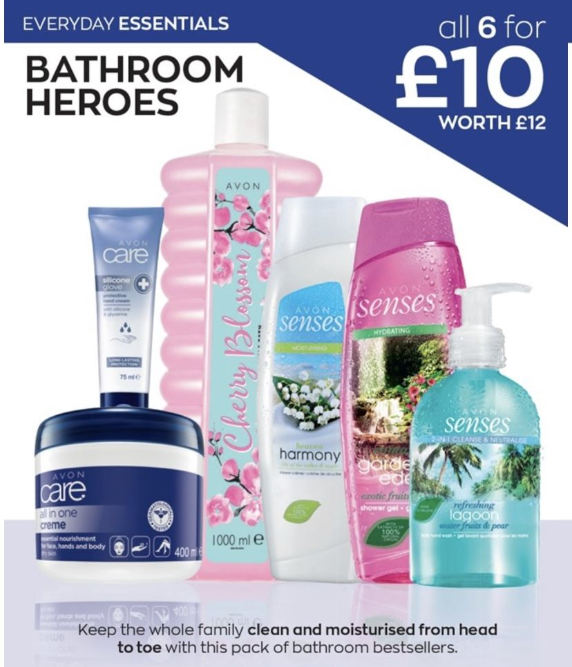 We're all in this together  Stay at home, order online   Shop online: www.avon.uk.com/store/mymakeup   #avon #avonuk #essentials #bubblebath #shampoo #handsoap #handwash #hygene #clean #bath #bathtime #bathroom #soap #washing #selfcare #roomspray #linenspray #hinching #hinchhome #mrshinch #cleaning #cleanfreak #home #myhome #scent #fragrance #staysafe #stayathome #shoponline #keepitclean