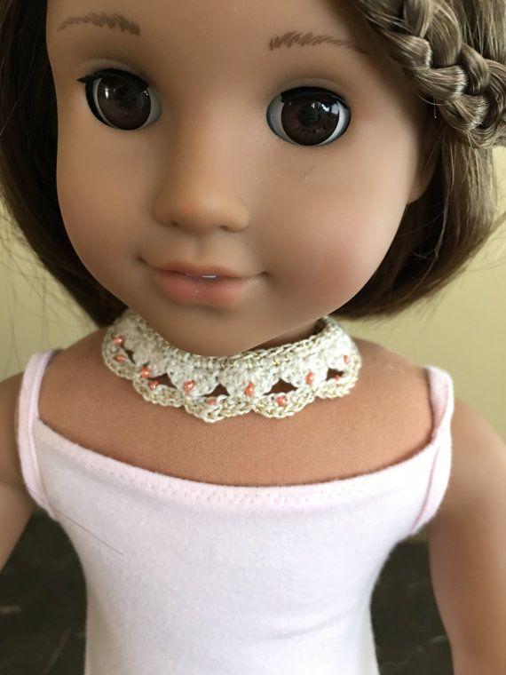 Handmade Crochet Beaded Necklace Jewelry for by CreoCrochet