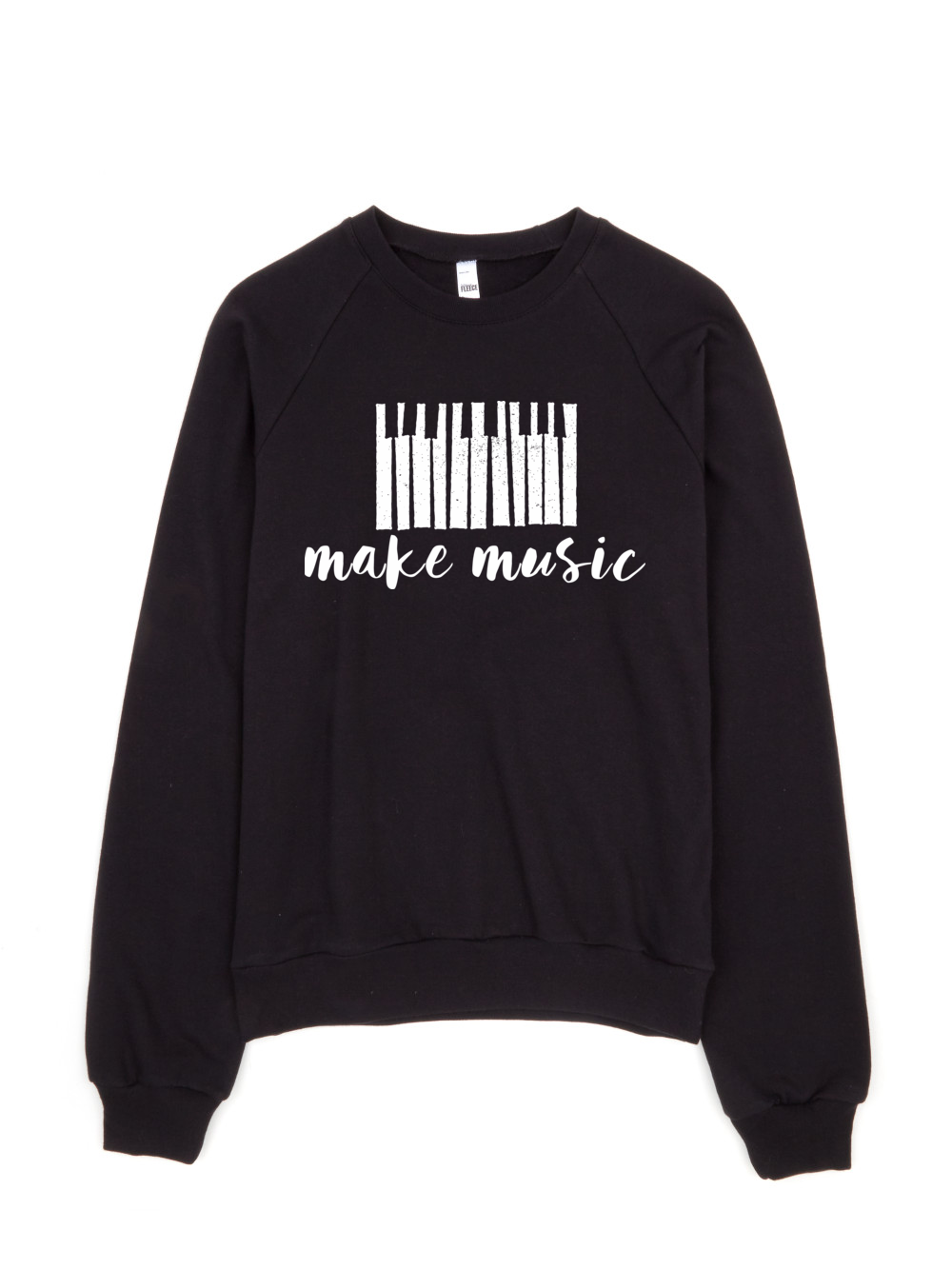 Make music sweater | women's black pullover | American apparel ...