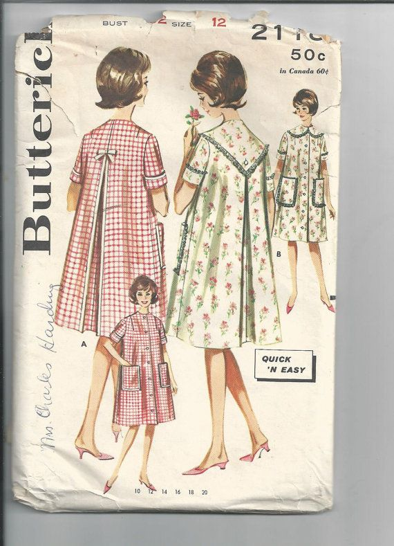 Butterick 2118 Vintage Sewing Pattern 1960\'s by HeirloomCouturier ...