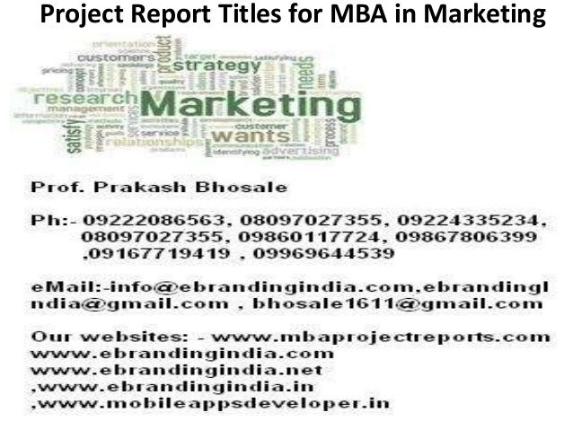 project report titles for mba in marketing Others Pinterest