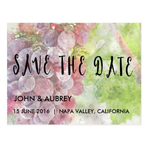 Winery Wedding Save the Date Save the Date Vineyard or Winery Wedding Postcard