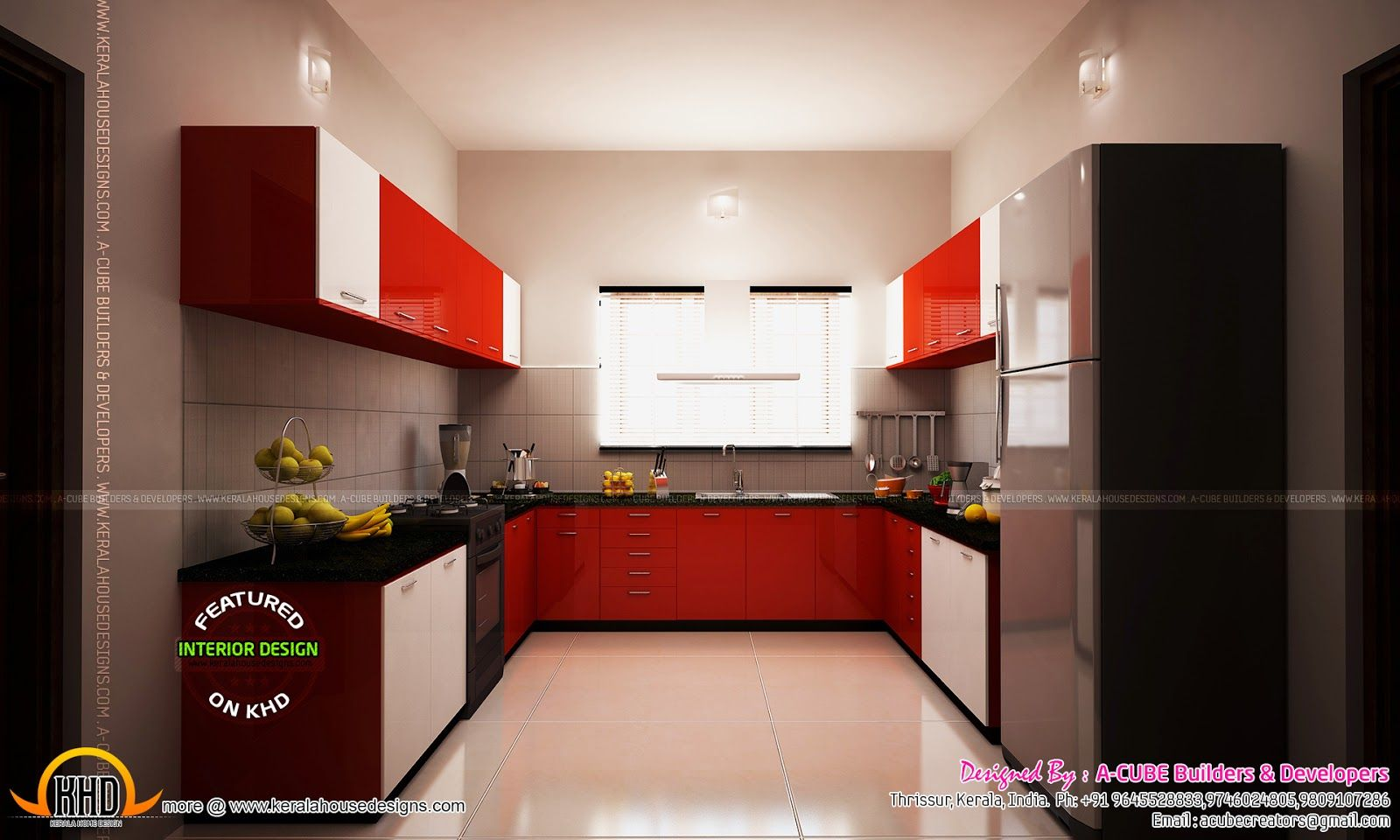 Modren Kitchen Design Kerala Houses Images With Style T In