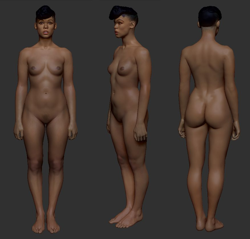 Animated female body naked sexy jepang