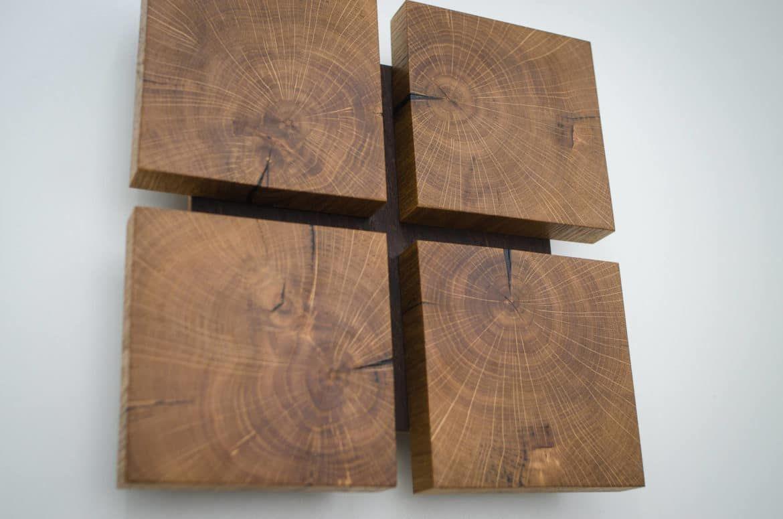 Square wooden oak sconce wood wall decor pinterest soft light
