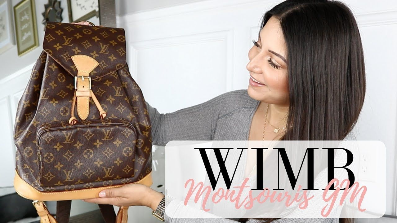 9a90340c5879 WHAT S IN MY BAG - Louis Vuitton Backpack - Montsouris GM