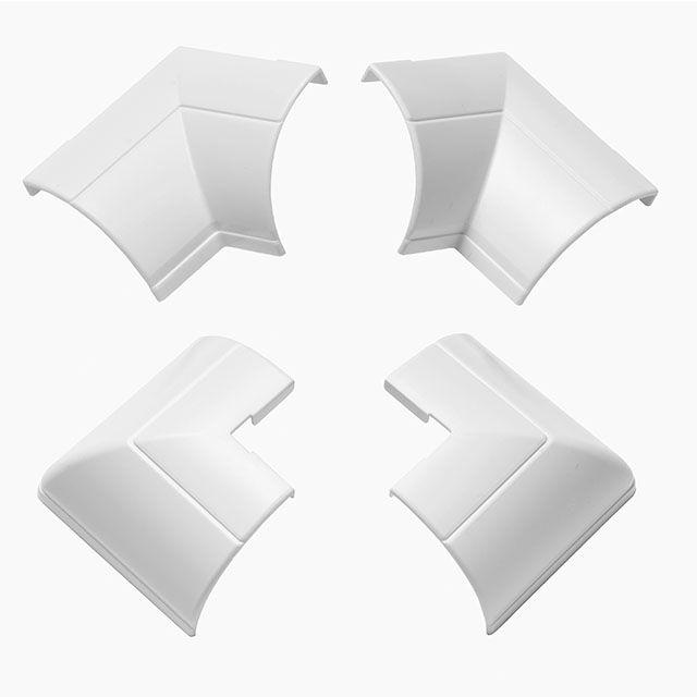 Raccords à Clipser Blancs Moulure Quart De Cercle 22x22 Mm
