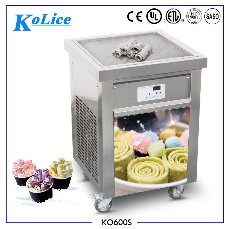 50cm Square Flat Ice Pan Ice Cream Frying Machines Fry Icecream