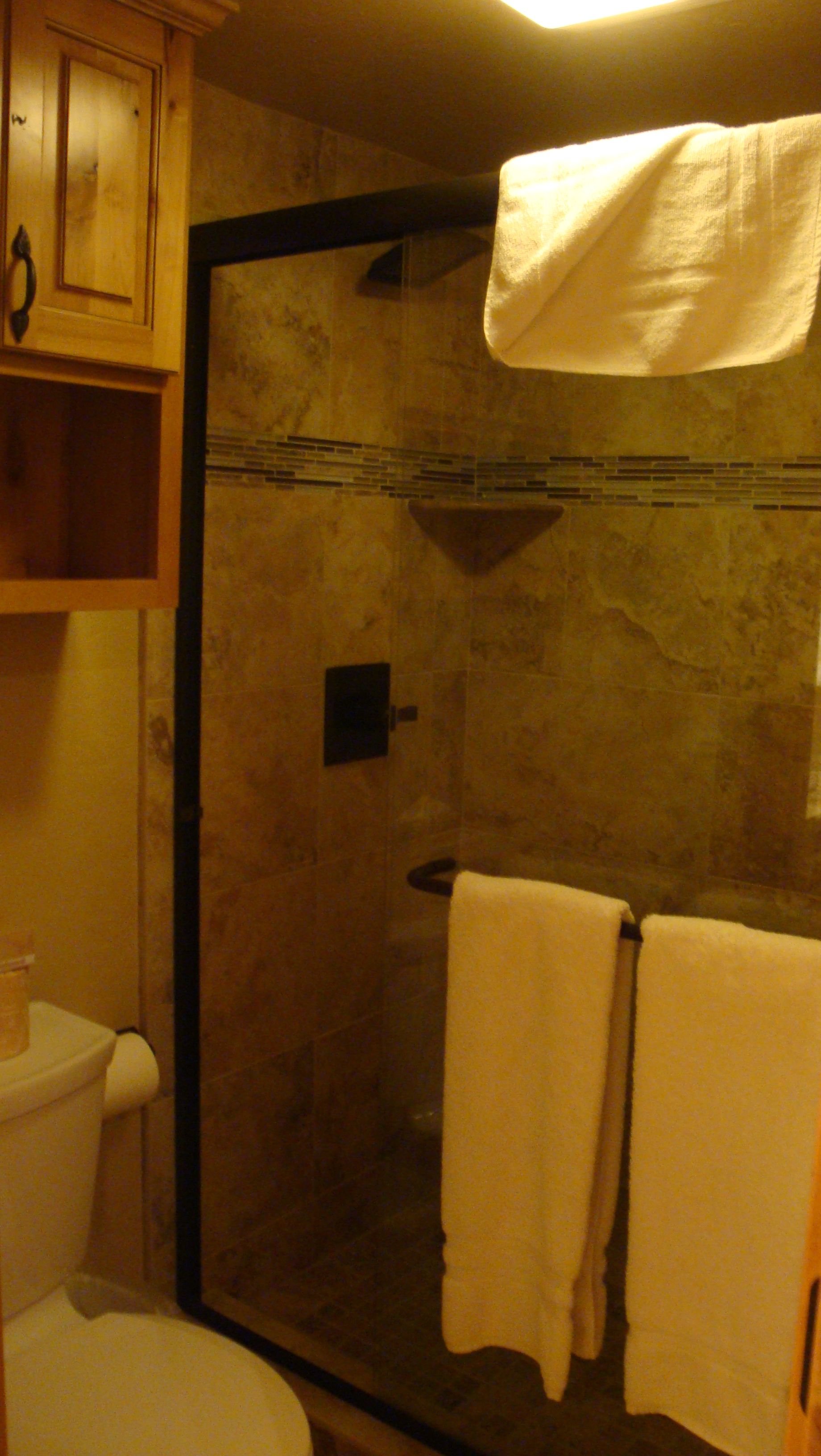Lakeland Village downstairs master bathroom with high quality oil ...
