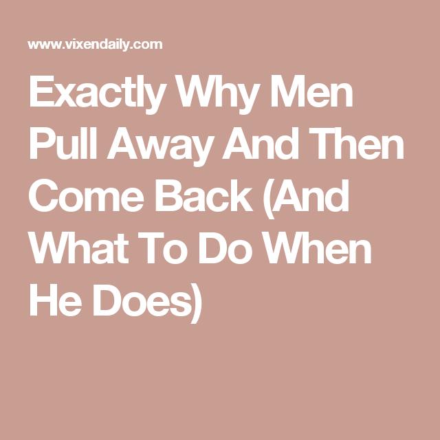 how long do men pull away for