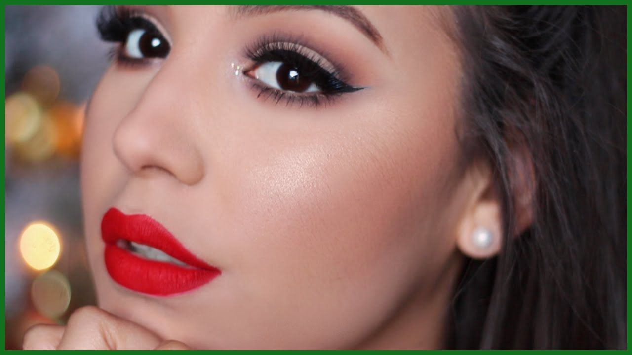 Classic Holiday Makeup Tutorial | #amariechristmas