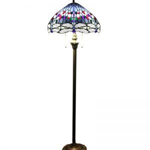 Tiffany Floor Lamp Endearing Tiffany Style Dragonfly Floor Lamp With Mosaic Base  Http Decorating Inspiration