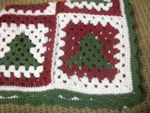 Abuela de árbol de Navidad Plaza vuelta afgano | Crochet | Pinterest ...