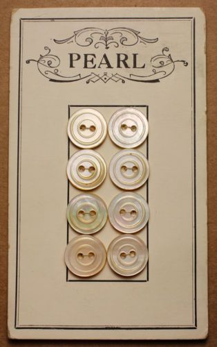 Vintage MOP buttons on card - button card inspiration