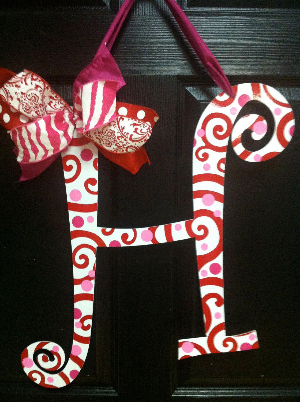 Valentine Monogram Decoration Metal letters, Large metal