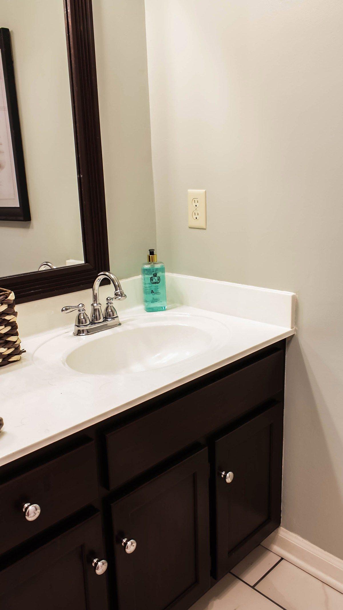 Transforming Bathroom Vanity with Gel Stain- Java Gel Stain ...