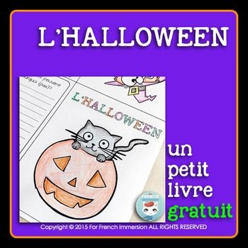 French Halloween Mini Book L Halloween Halloween