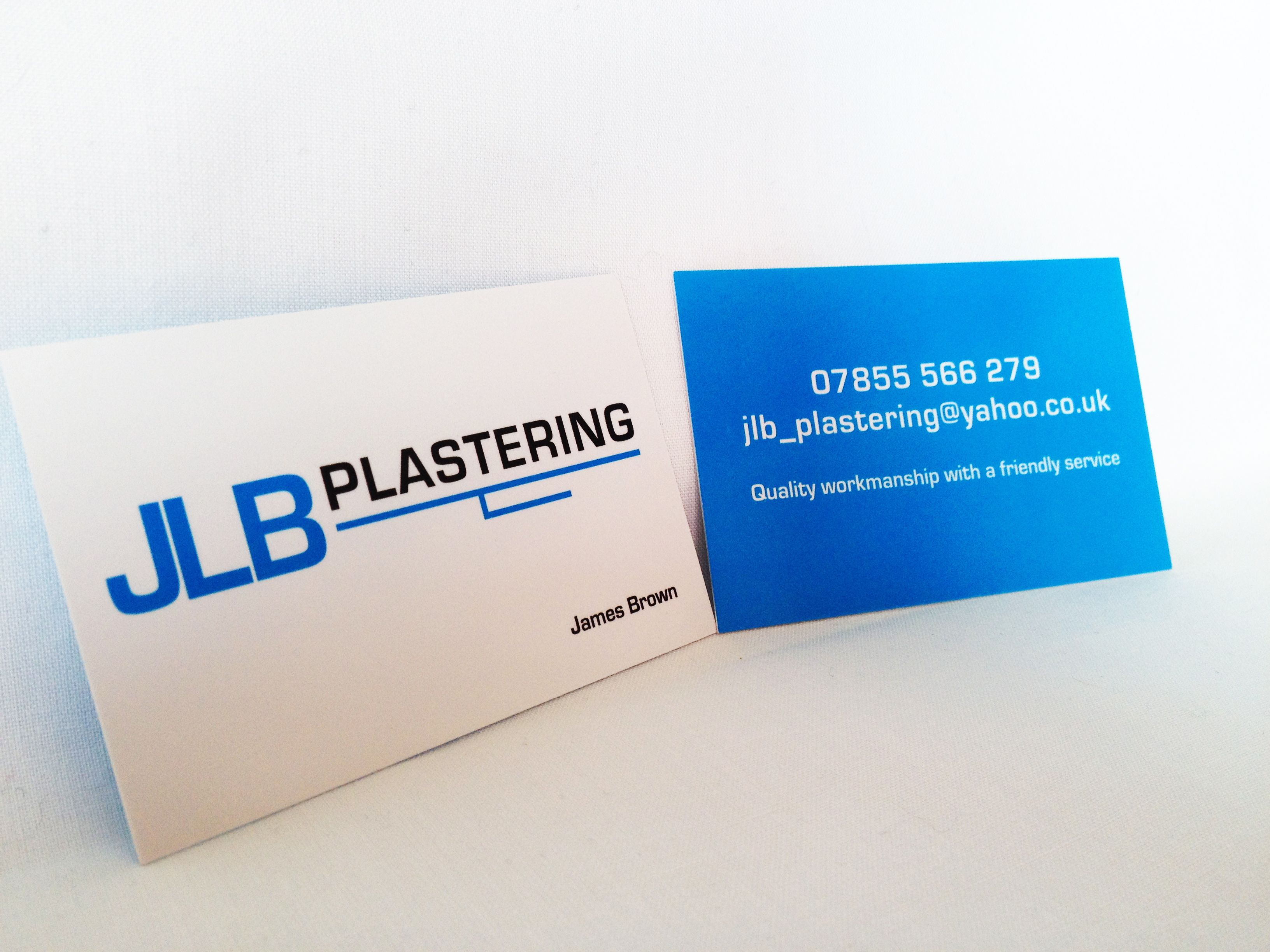 New JLB Plastering business cards and logo design | Logo ...