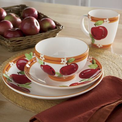 16 Piece Apple Dinnerware Dinnerware Dinnerware Set Apple
